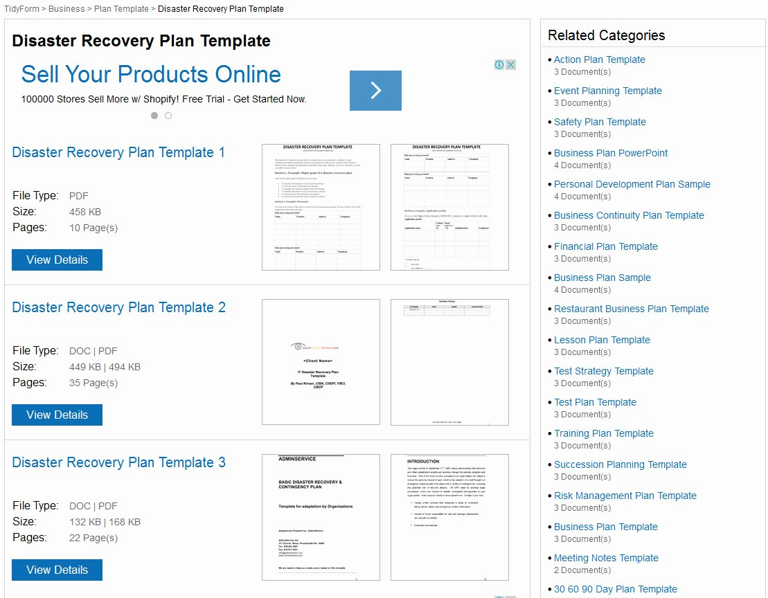 Simple Disaster Recovery Plan Template Fresh Disaster Recovery Plan Templates
