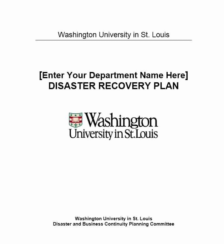 Simple Disaster Recovery Plan Template Lovely Disaster Recovery Plan Template 18 Template Lab