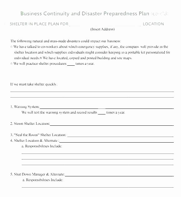 Simple Disaster Recovery Plan Template Luxury Bcp Test Plan Template Bank Business Continuity Plan