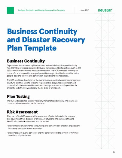 Simple Disaster Recovery Plan Template Unique Business Continuity and Disaster Recovery Plan Template