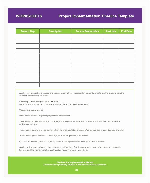 Simple Implementation Plan Template Beautiful 8 Project Implementation Templates Free Sample Example