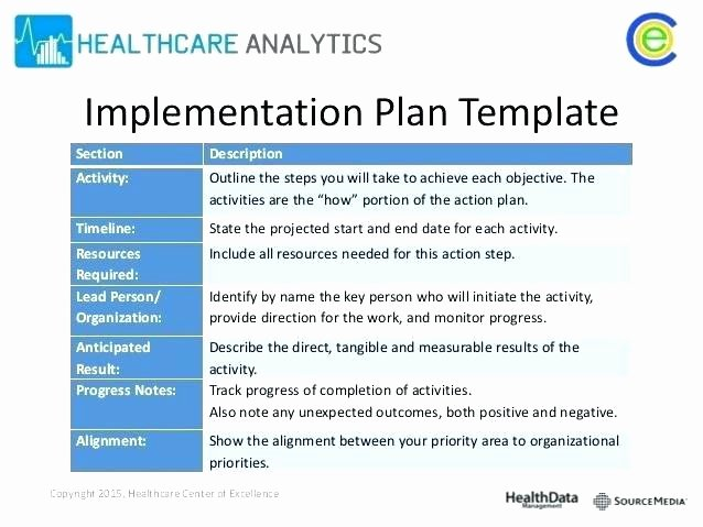 Simple Implementation Plan Template Luxury Ponents A Project Implementation Plan Templates C
