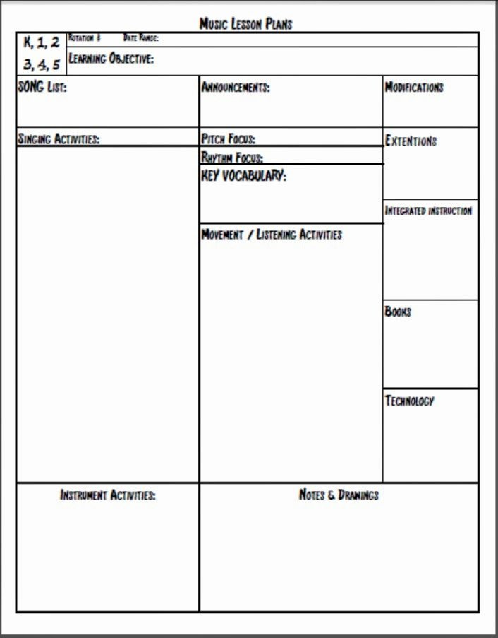 Simple Lesson Plan Template Awesome Melodysoup Blog New and Improved Free Lesson Plan Printable