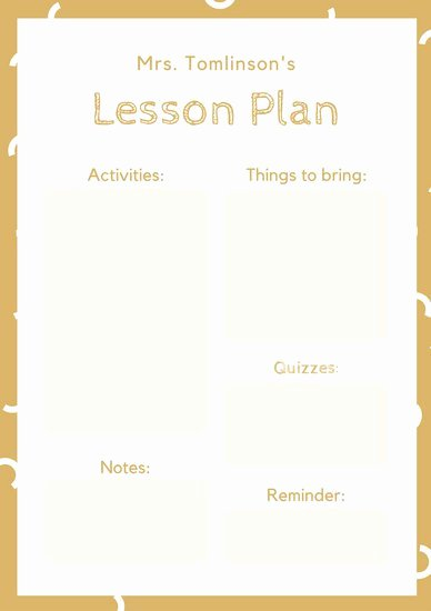 Simple Lesson Plan Template Beautiful Customize 1 304 Lesson Plan Templates Online Canva