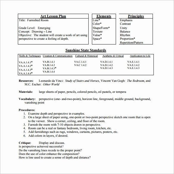 Simple Lesson Plan Template Lovely Elementary Lesson Plan Template 11 Pdf Word format