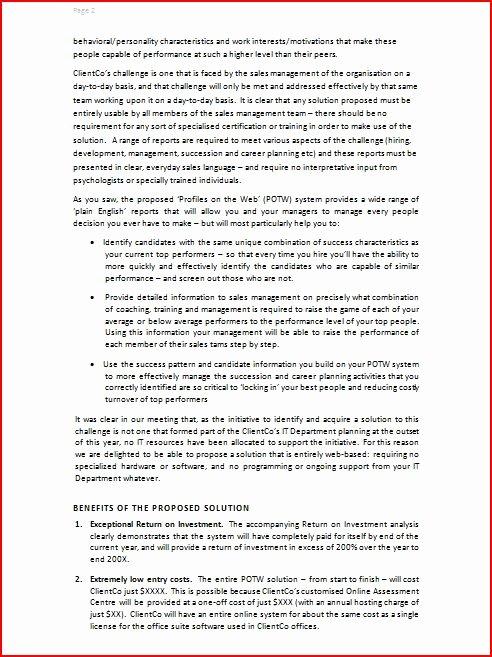 Simple Offer Letter format Best Of 8 Best Of Simple Business Proposal Sample Short