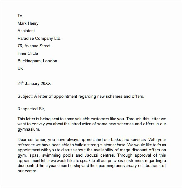 Simple Offer Letter format Elegant 8 Appointment Letters – Free Samples Examples & format