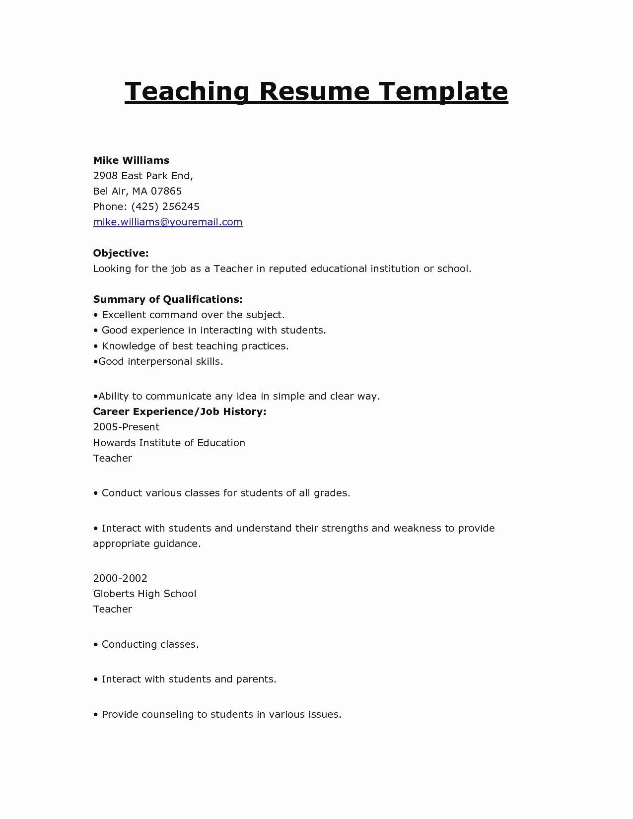 Simple Offer Letter format Fresh Simple Fer Letter format