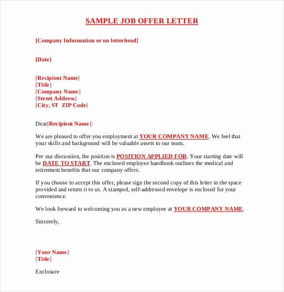 Simple Offer Letter format Lovely 70 Fer Letter Templates Pdf Doc