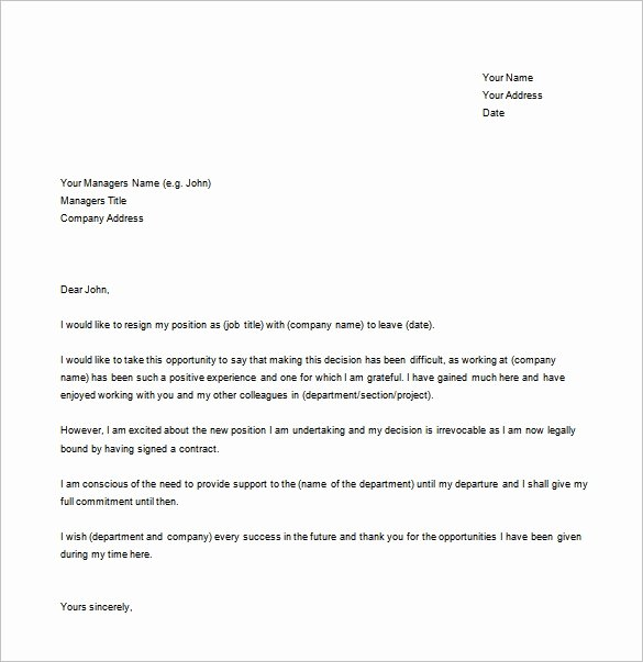 Simple Offer Letter format New 35 Simple Resignation Letter Samples