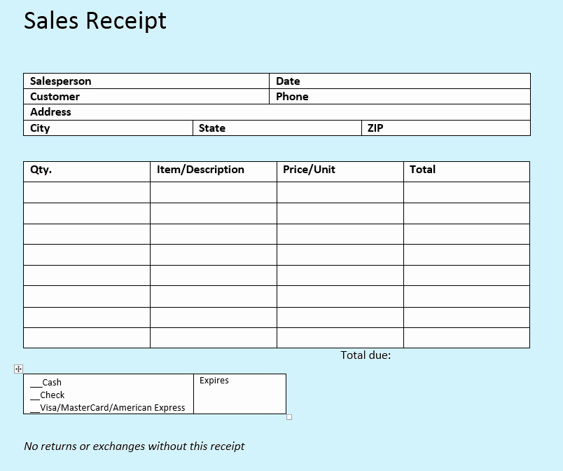 Simple Sales Receipt Template Awesome Sales Receipt Templates the Easy Way to Write Sales
