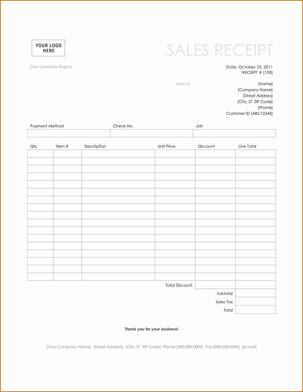 Simple Sales Receipt Template Beautiful 4 Simple Receipt Template