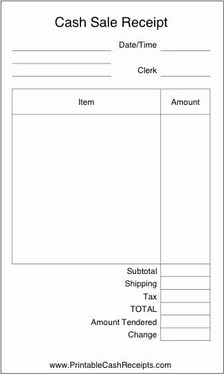 Simple Sales Receipt Template Best Of A Basic Airy Cash Receipt with Plenty Of Room to Write In
