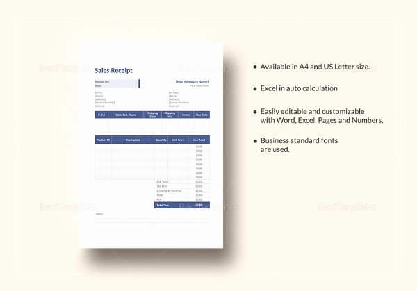 Simple Sales Receipt Template Fresh Dog Bill Of Sale Template – 13 Free Word Excel Pdf