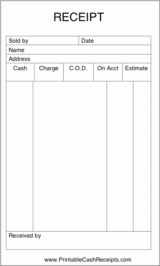 Simple Sales Receipt Template Fresh Printable forms Receipt