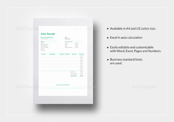 Simple Sales Receipt Template New Cash Receipt Template 15 Free Word Pdf Documents