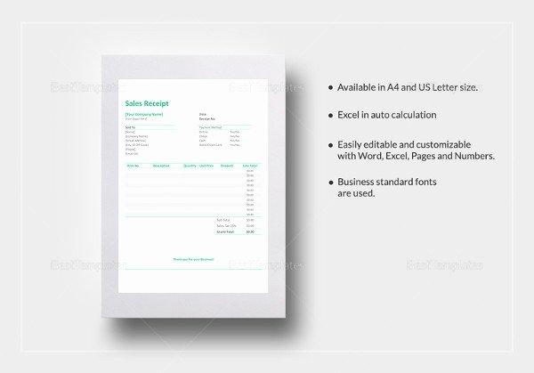 Simple Sales Receipt Template New Cash Receipt Template 15 Free Word Pdf Documents