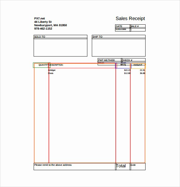 Simple Sales Receipt Template New Printable Sales Receipt