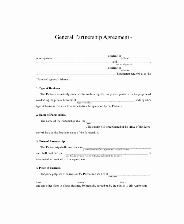Simple Shared Well Agreement Fresh Sample Business Partnership Agreements In Pdf 10