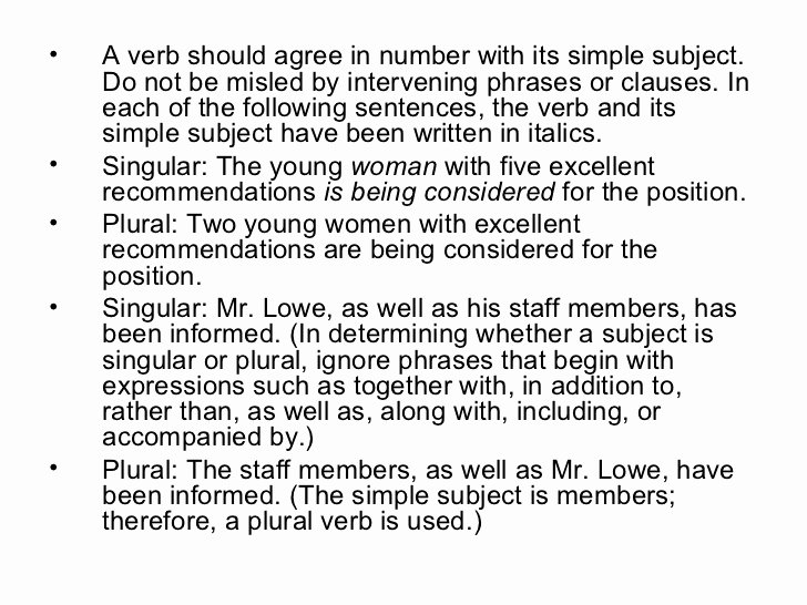 Simple Shared Well Agreement Luxury Subject Verb Agreement Rules