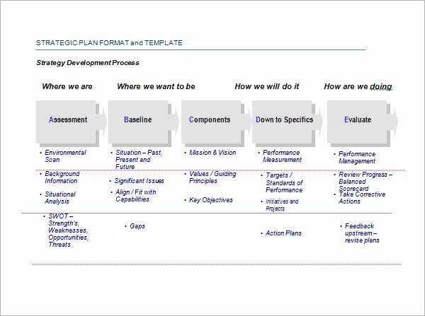 Simple Strategic Plan Template Awesome 30 Strategic Plan Templates Pdf Word