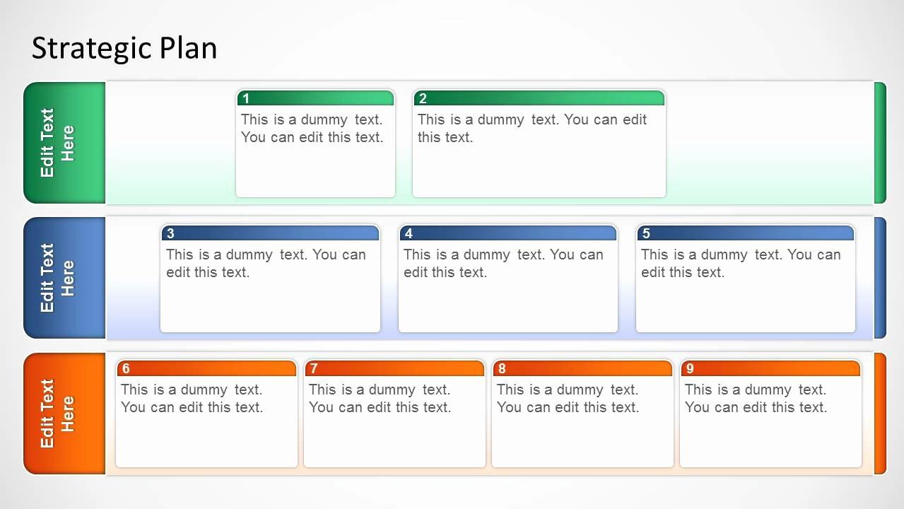 Simple Strategic Plan Template Best Of Basic Strategic Plan Template for Powerpoint Slidemodel
