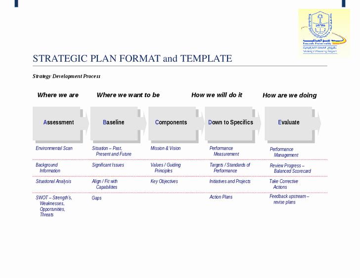 Simple Strategic Plan Template Elegant Simple Strategic Planning Template Process Steps