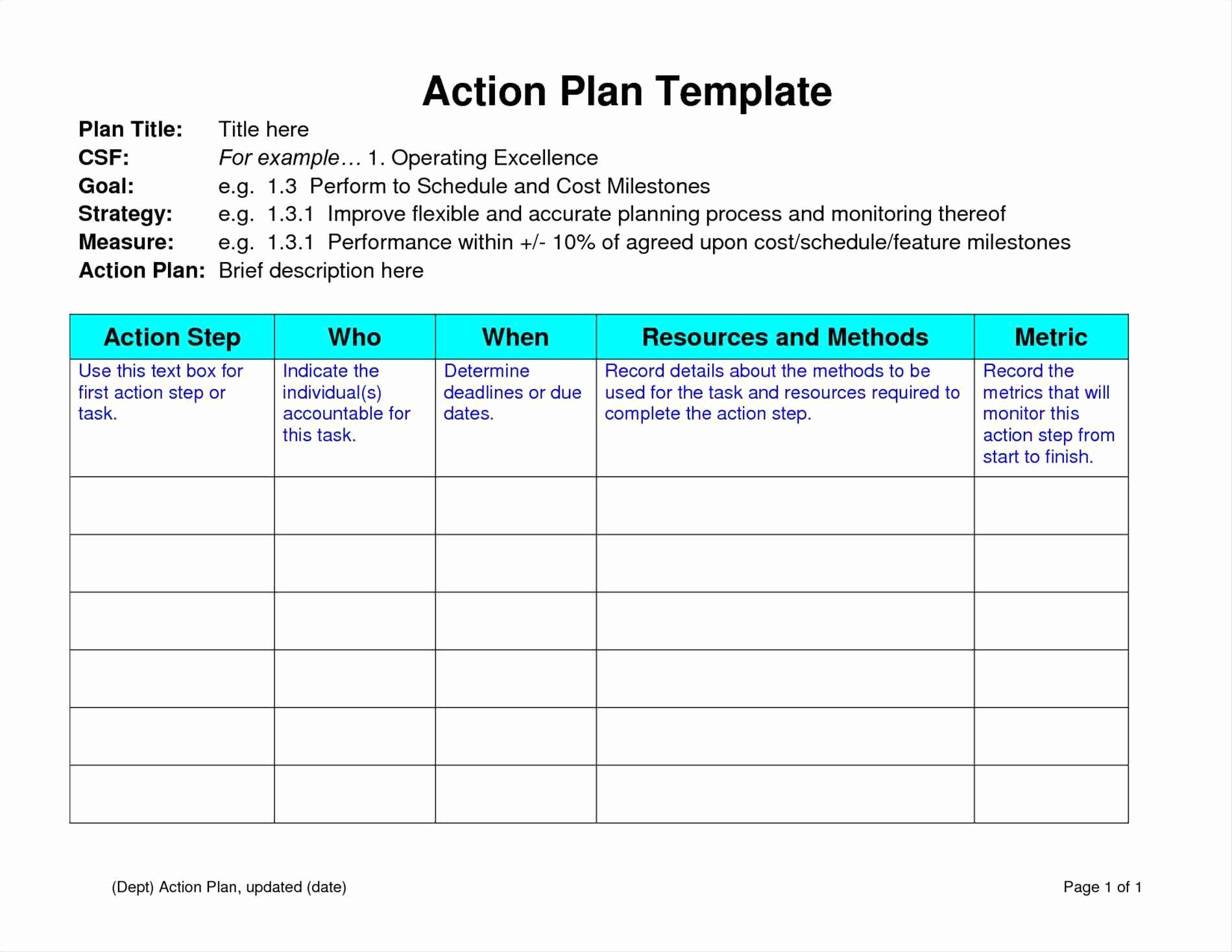 Simple Strategic Plan Template Unique Free Strategic Plan Template Portablegasgrillweber