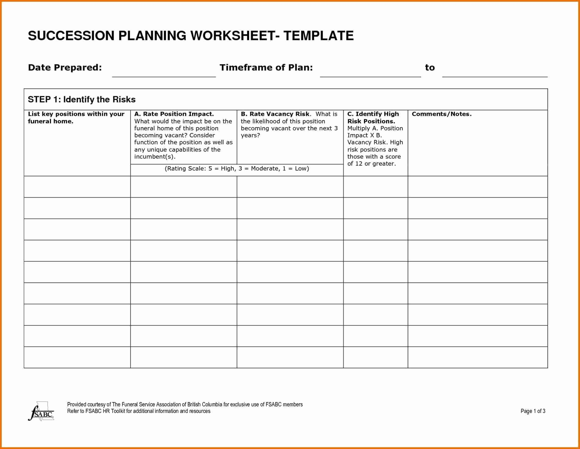 Simple Succession Plan Template Awesome Bank Management Succession Plan Template Templates