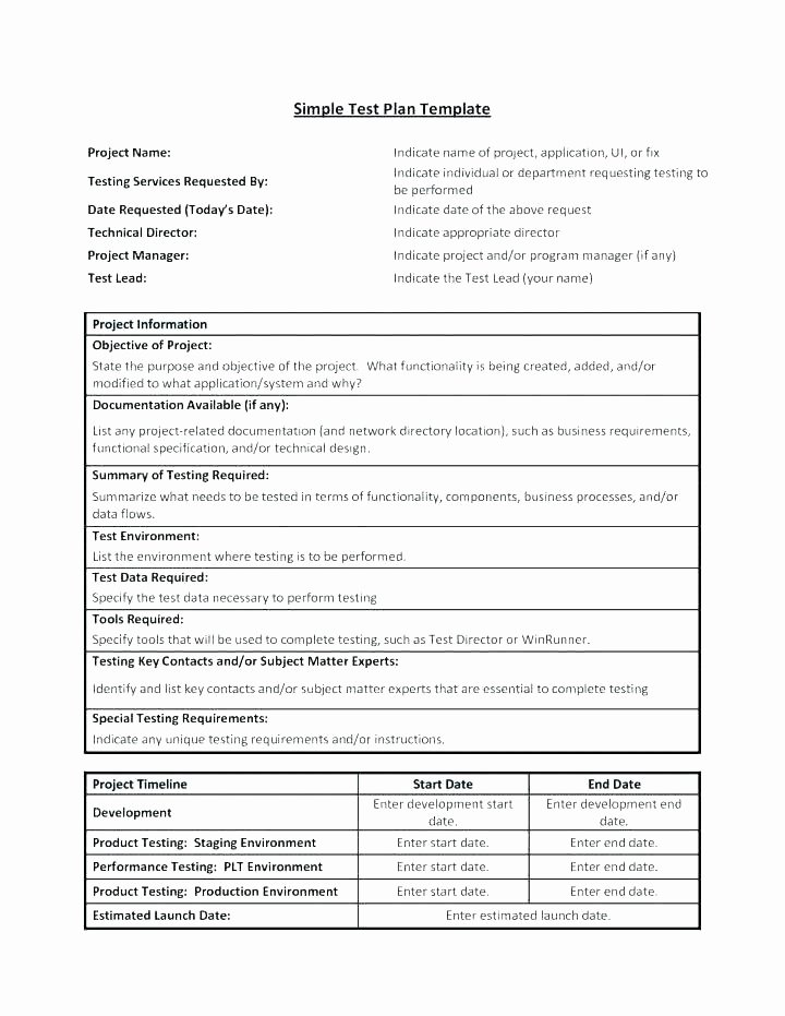 Simple Test Plan Template Awesome Business Requirements Template Word – Apenglishfo