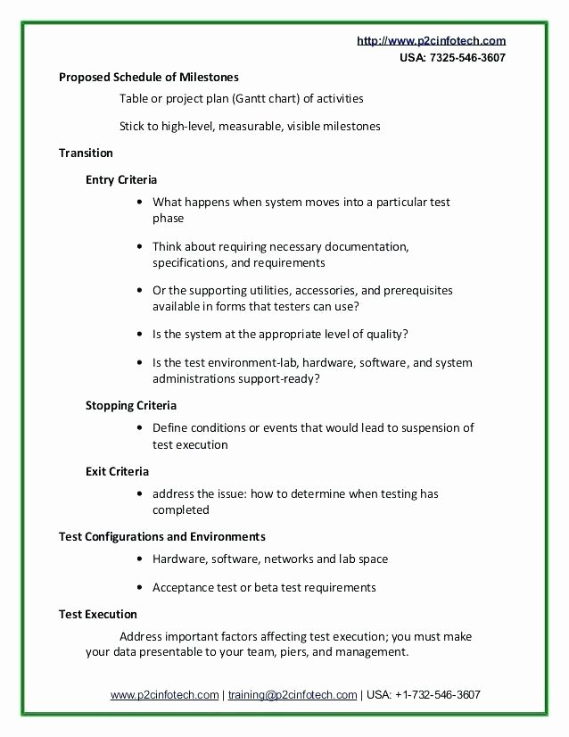 Simple Test Plan Template Best Of Basic Test Plan Template – Gradyjenkins