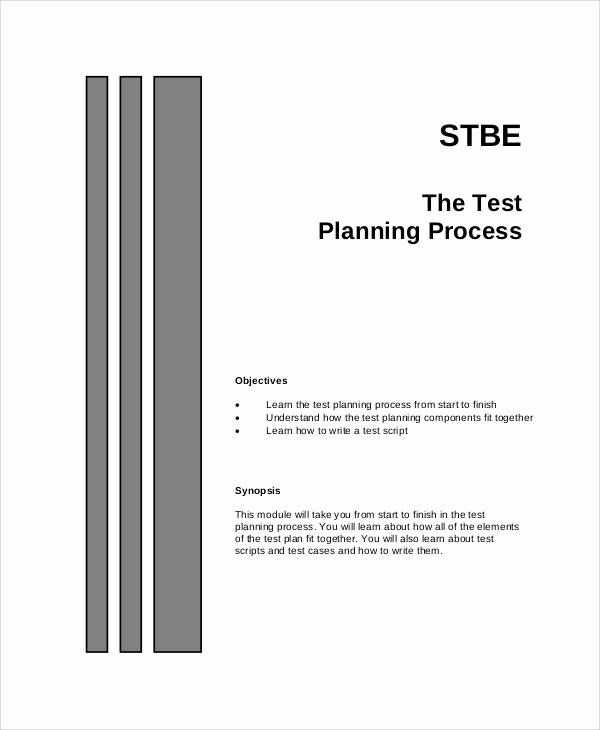 Simple Test Plan Template Fresh 13 Simple Test Plan Templates Pdf Word