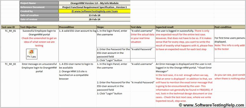 Simple Test Plan Template Inspirational Test Case Sample Simple Test Case with Precondition and