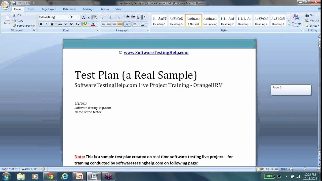 Simple Test Plan Template Inspirational Test Plan Test Plan Template Test Plan Document Test