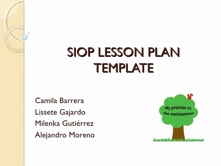 Siop Lesson Plan Template 1 Lovely Hands On Activity Presentation Siop Lesson Plan Template