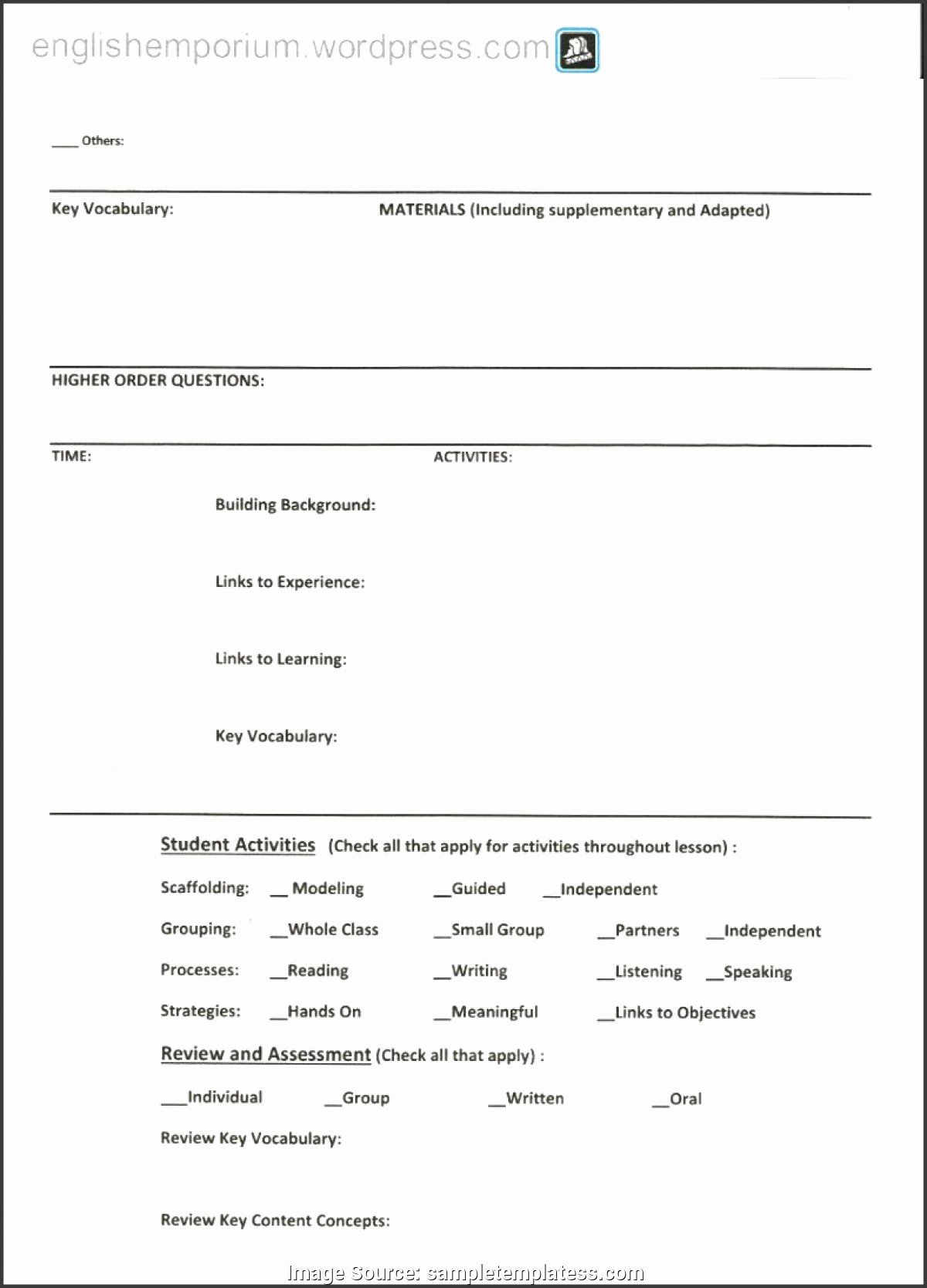 Siop Lesson Plan Template 1 Luxury Trending Siop Lesson Plan Template 1 Word Document 9