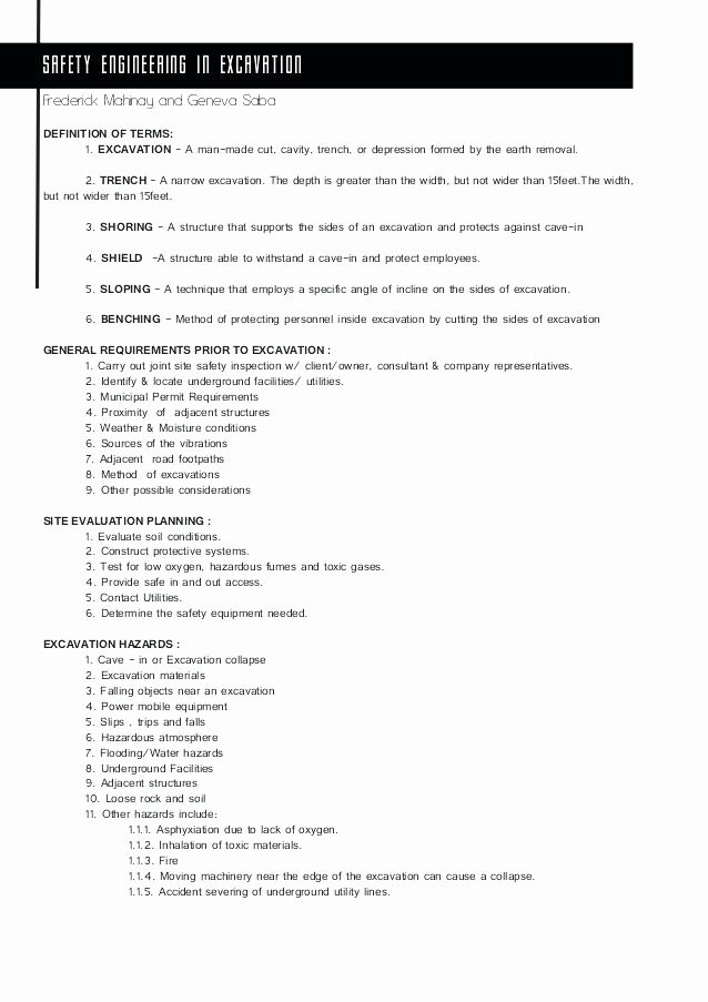 Site Safety Plan Template Fresh Job Safety Plan Template – Btcromaniafo