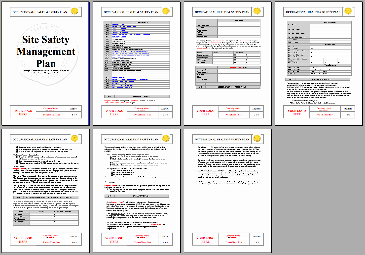 Site Safety Plan Template Unique Safety Plan Template