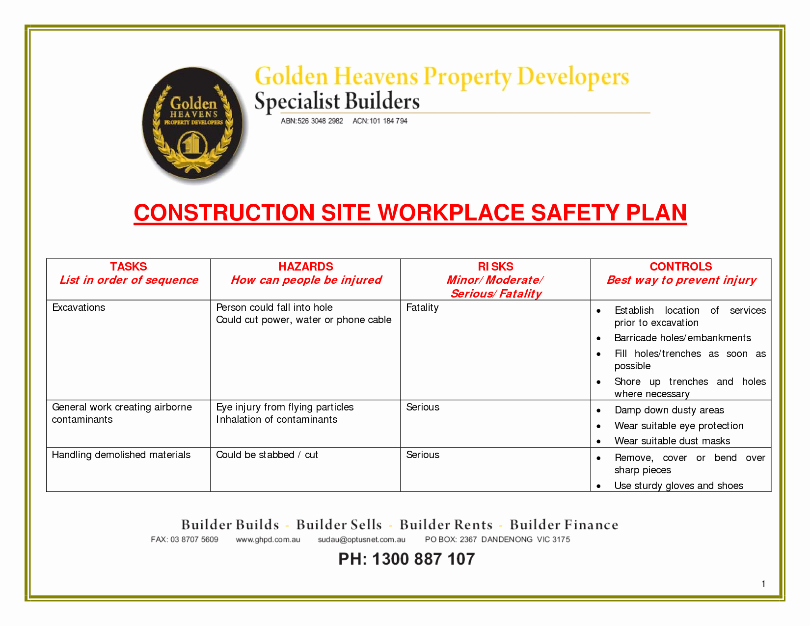 Site Specific Safety Plan Template Awesome 24 Of Site Safety Plan Template