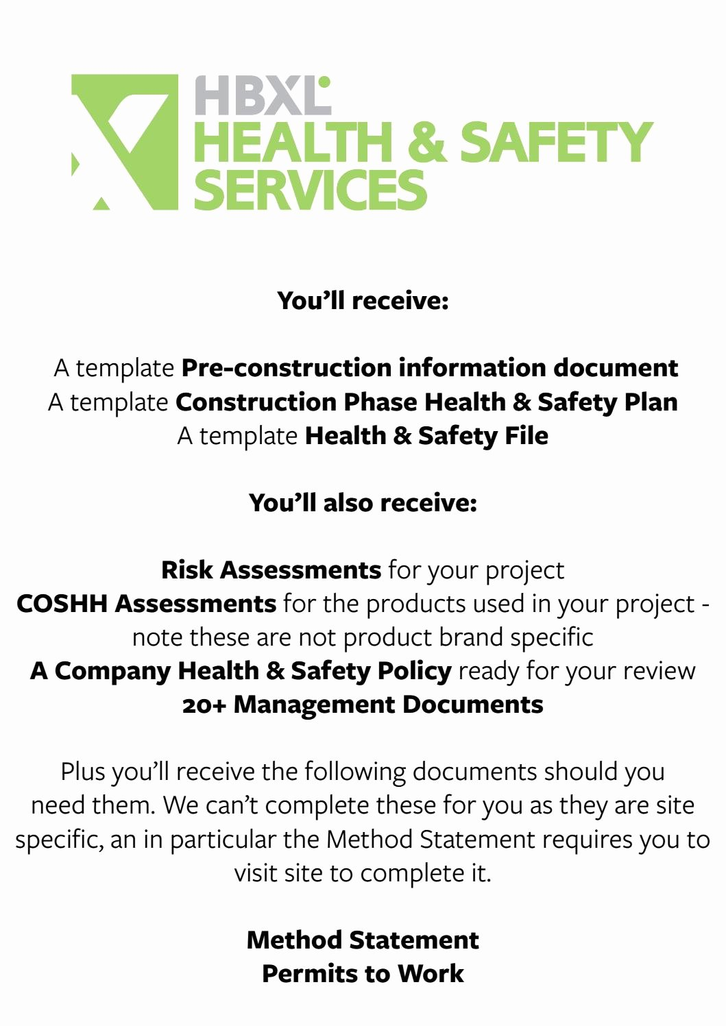 Site Specific Safety Plan Template Awesome Health & Safety Pack Sample by Hbxl Estimating Service issuu