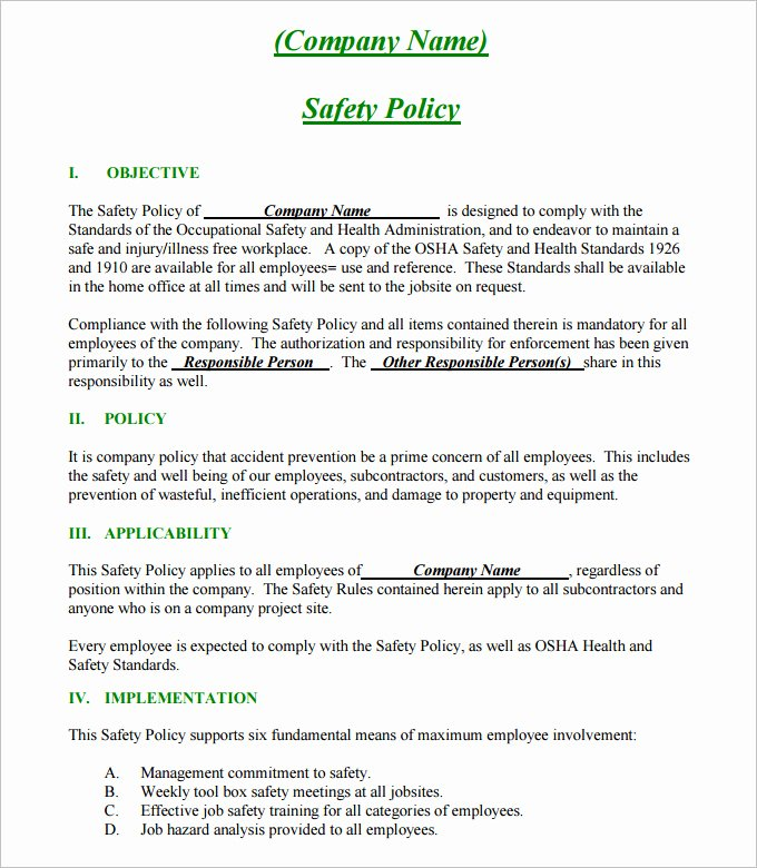 Site Specific Safety Plan Template Beautiful Construction Safety Plan Template 19 Free Word Pdf