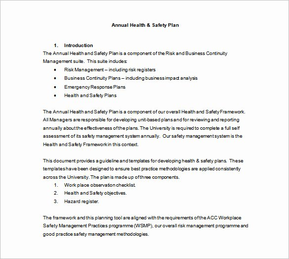 Site Specific Safety Plan Template Luxury Safety Plan Template
