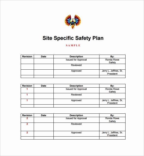 Site Specific Safety Plan Template New Sample Safety Plan Template 12 Free Samples Examples