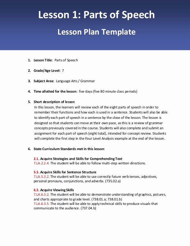 Slp Lesson Plan Template Beautiful Lesson 1