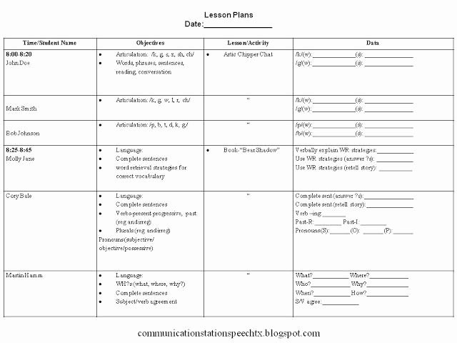 Slp Lesson Plan Template Inspirational Clinical Methods Csd482 Locke Livebinder