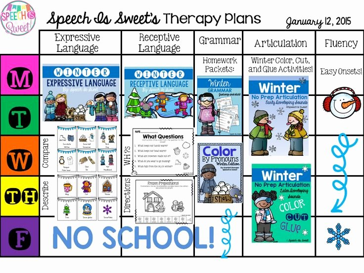 slp lesson plan freebies