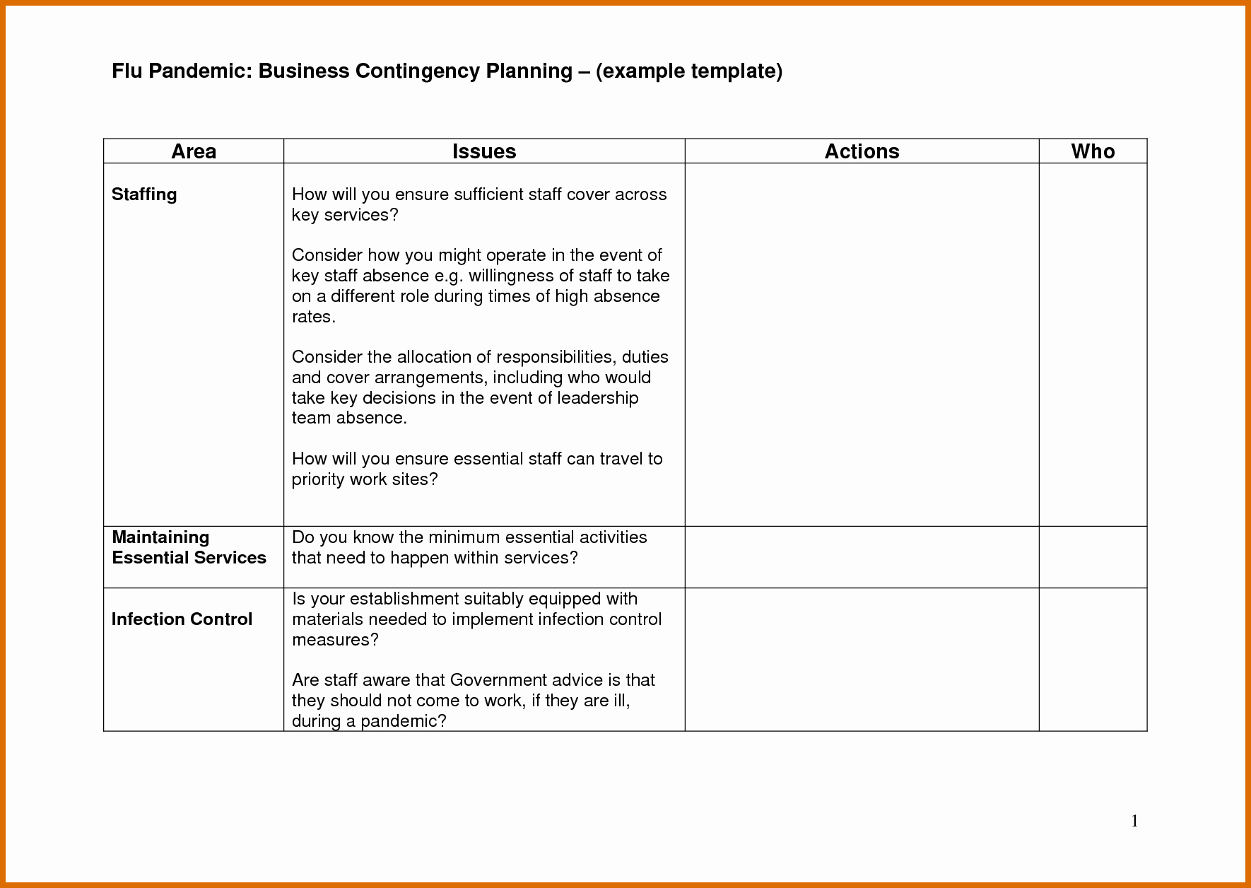 Small Business Continuity Plan Template Awesome 9 10 Contingency Plan Examples