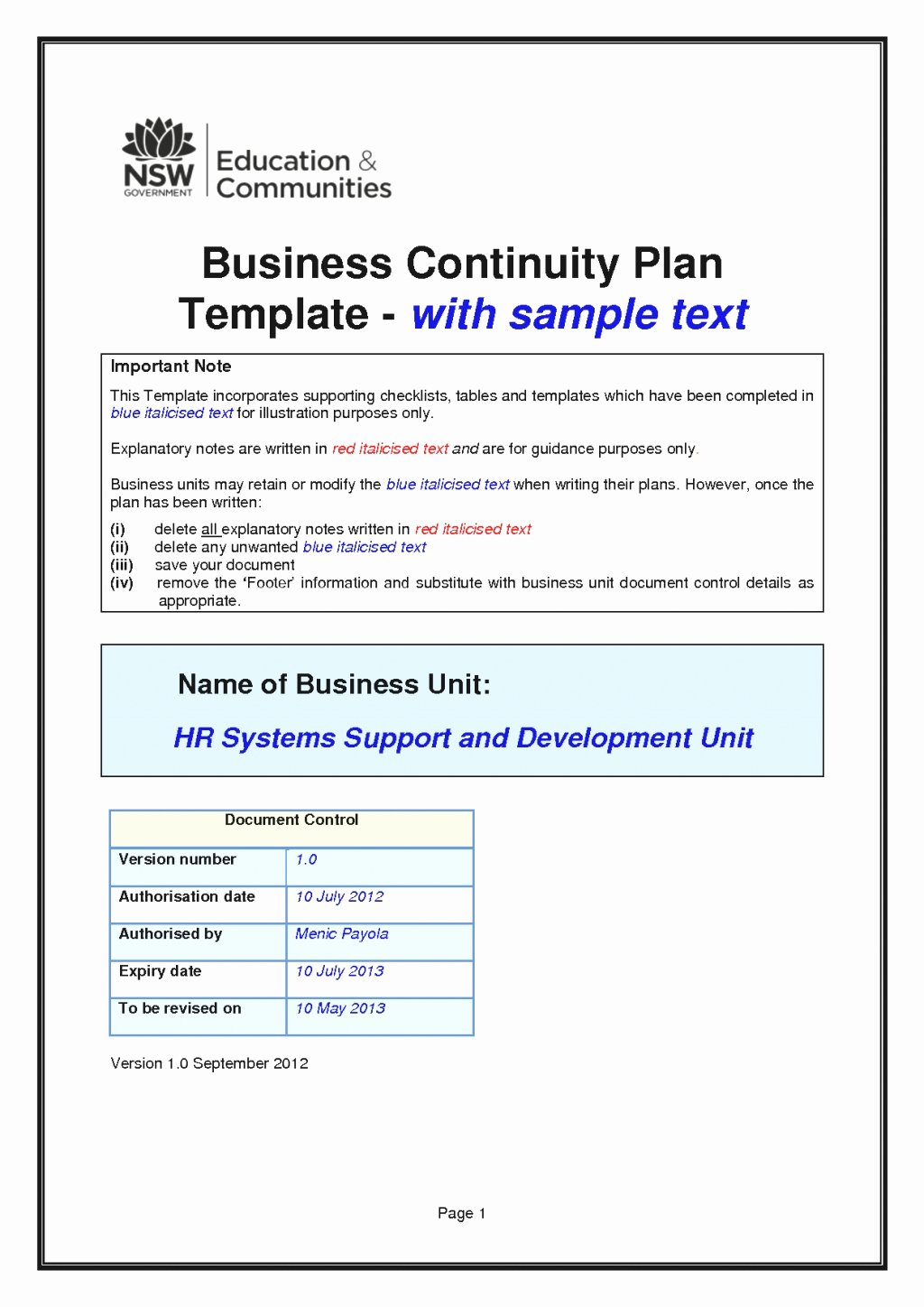 Small Business Continuity Plan Template Beautiful Business Continuity Plan Template