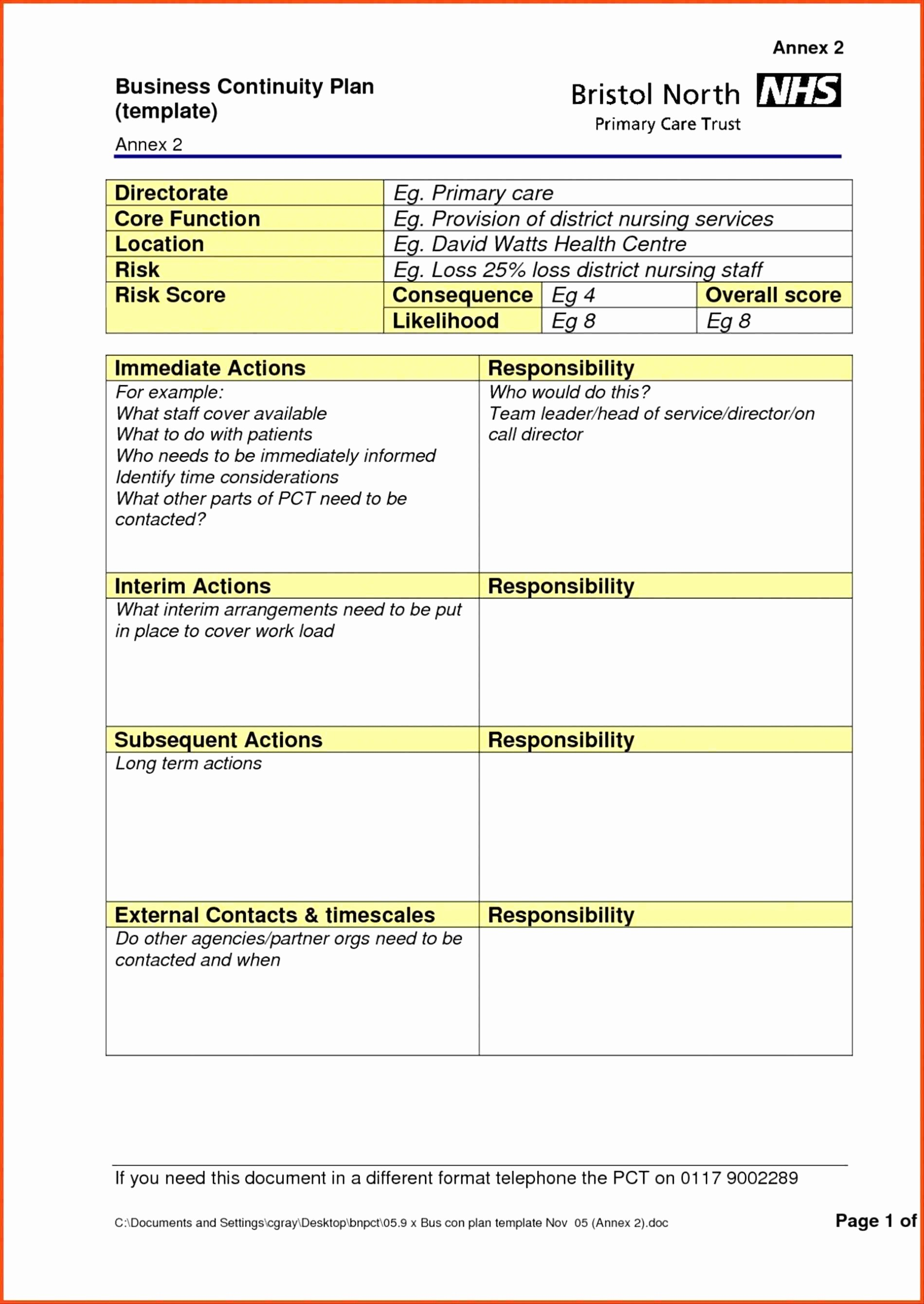 Small Business Continuity Plan Template Elegant Valid 20 Business Continuity Plan Template Uk