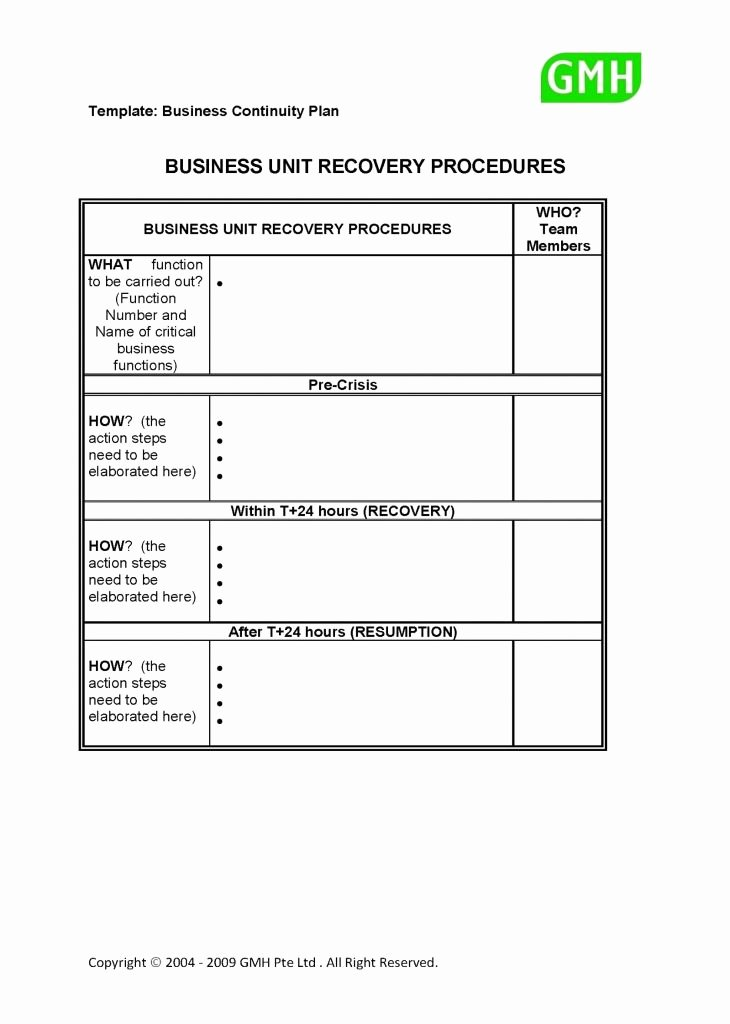 Small Business Continuity Plan Template Unique 20 Simple Business Continuity Plan Template New Simple